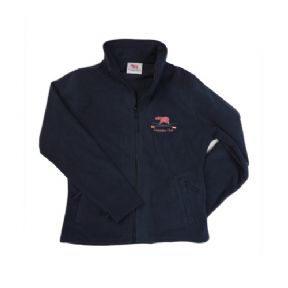 Ladies Navy Fleece Top